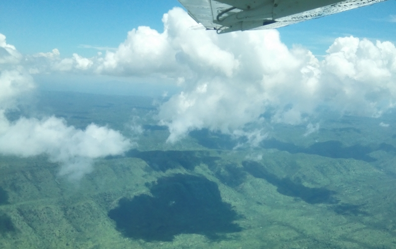 View over Central Equatoria from plane, 2016